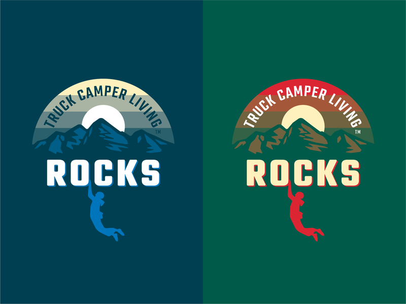 TCL Rocks 1.0 illustration screen print apparel graphic badge logo print