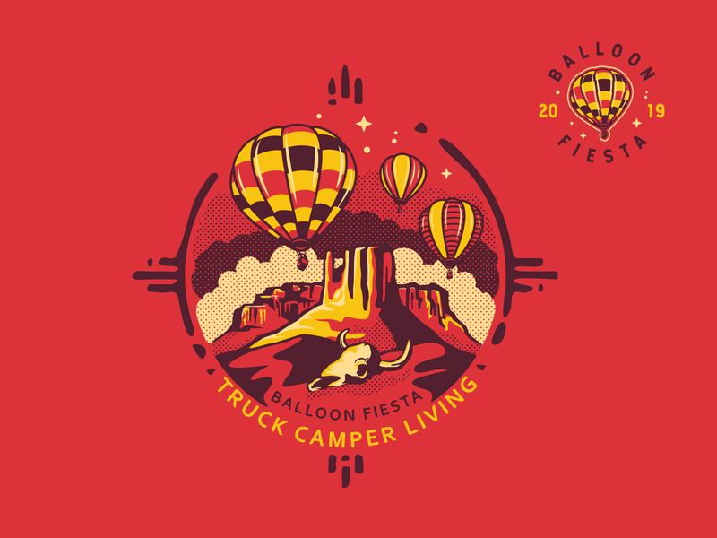 TCL - Balloon Fiesta apparel graphics desert new mexico nature balloon western illustration logo print