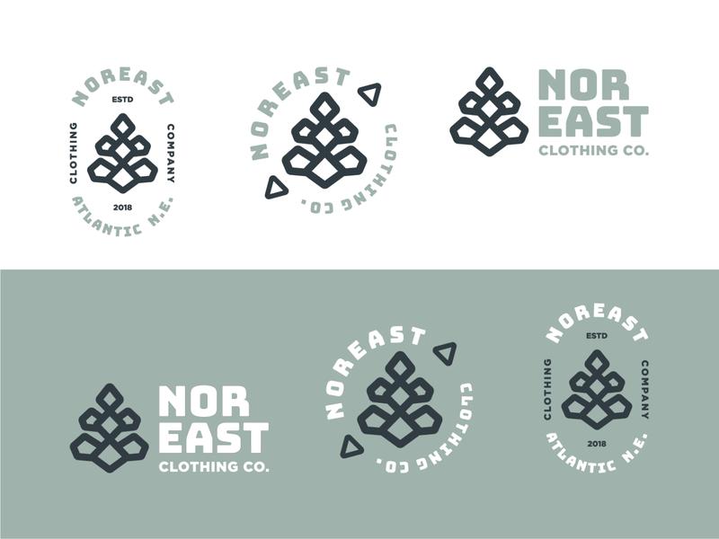 NOREAST CLOTHING CO geometric pine cone apparel new england branding print logo