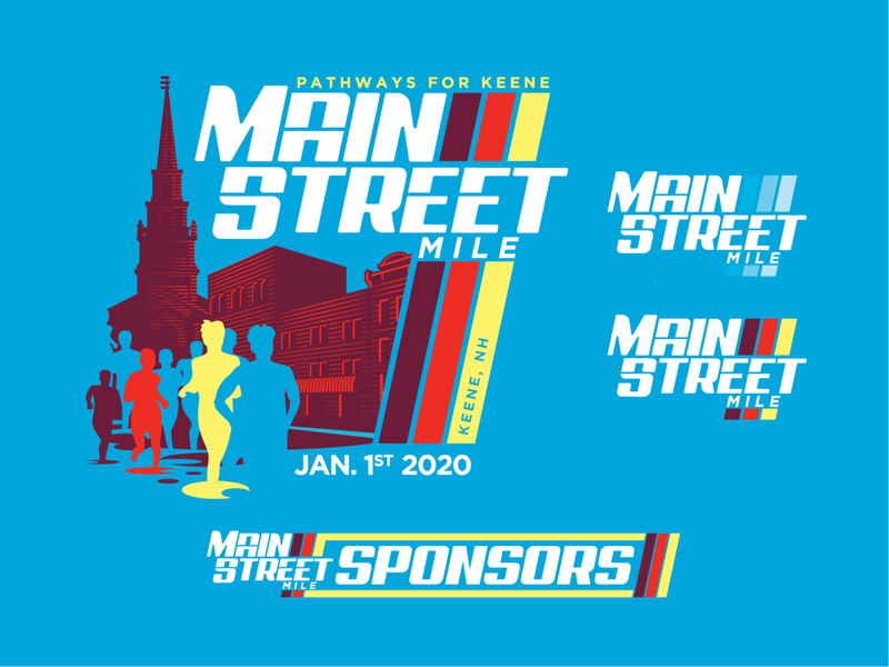 Main Street Mile  - Round 2 branding event branding logo sports athletics road race apparel graphics illustration print