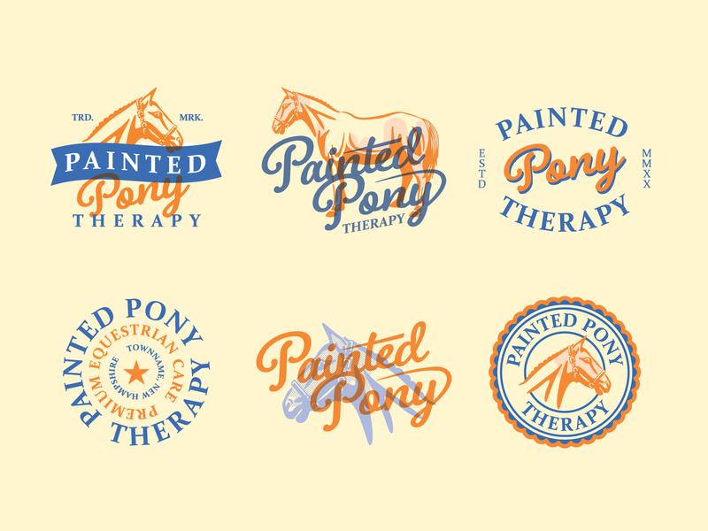 Painted Pony - Concepts illustration vintage horse brandmark logo print branding