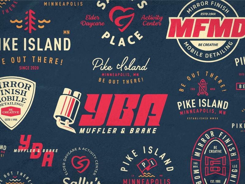 Quickies & Exploration Board logo monogram lettering typography illustration print branding