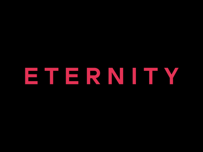 Eternity easing transform lettering letter branding type typography transition pink word letters ae motion animation after effects eternity
