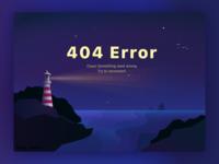 Night. Lighthouse. 404