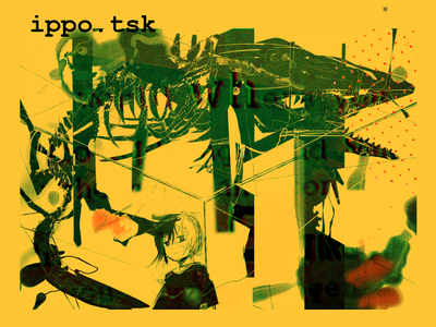ippo.tsk music yellow minimalist simple web design illustration