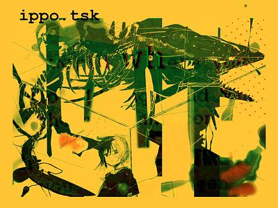 ippo.tsk music yellow minimalist simple web design illustration