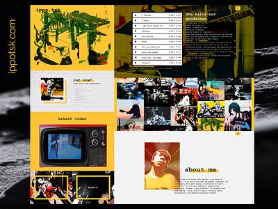 ippo.tsk yellow web simple music minimalist illustration design