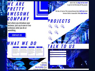 BLUE  FEVER minimalism blue and white blue web simple minimalist design