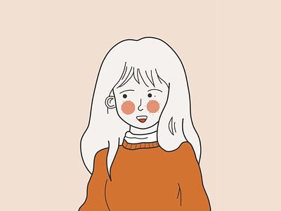 Self-portrait girl self-portrait illustration design