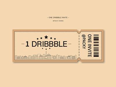 Dribbble invite ticket invitation invite design illustration dribbble invite entrance ticket