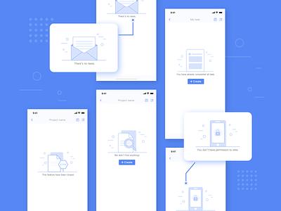 Default page design empty iphonex ui design app illustration default page