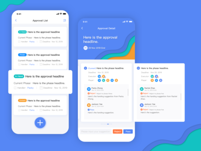 Cooperation app | Approval process