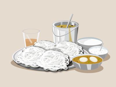 iddiyappam and egg curry