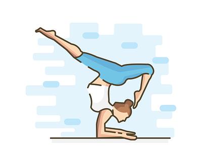 Flexible charecter design charecter position yoga fashion illustation flat
