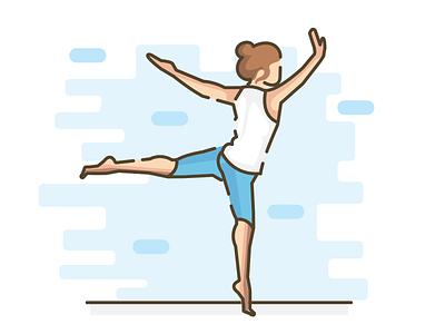 FUN ui design position dance yoga character illustration fun