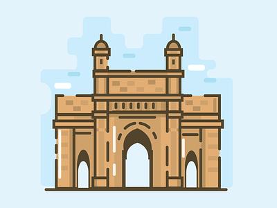 Mumbai location gateway of india gateway india gate indian india adobe mumbaigate place illustration cities mumbai