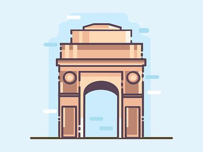 Delhi cities uidesign design art illustration india india gate delhi