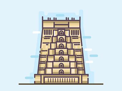 Chennai location cities branding south indian ui vector design character illustration india chennai