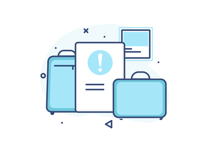 Notice hotel stay travel checkout checkin notice product design ux vector ui illustration
