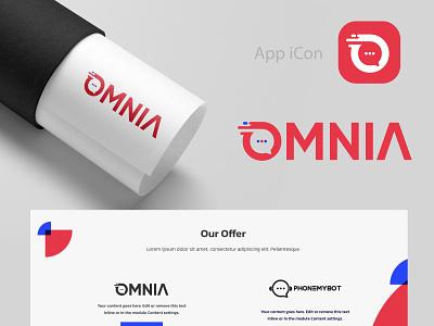 Logo Design For OMNIA icon illustrator health fitness beauty vector branding design typogaphy logo design logos logo