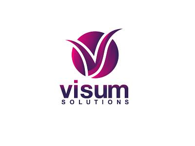 Visum Solutions Logo Design logo design vector branding icon design logo