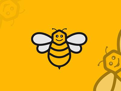 Bee Logo Design bees bee icon bee logo logos design vector branding illustrator logo design icon logo