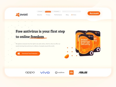 Avast Landing Page Redesign landing page design ui landing page design cool landing page cool colors business website business landing page corporate landing page webdesign website landingpage