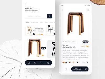 Furniture items app app ui design app ui kit web ui apple design app designer simple design minimal ui clean ui abstract iso app apple app ui