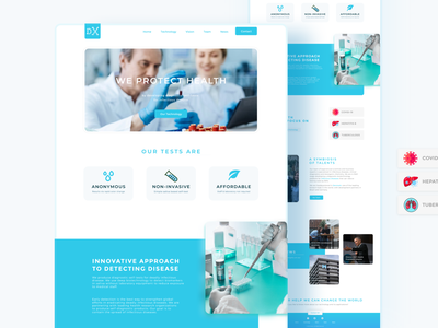 Medical Website Landing Page userinterface ui design uidesign landing page typography design website ui illustration landing ui website ux web google responsive responsive website responsive design responsive web design