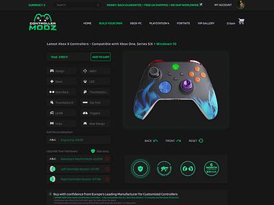 Web Application/ Web Design dark interface dark ui gaming gaming website websites visual design website design website landing page design typography landing page ui design
