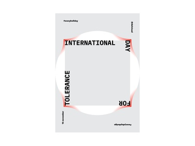Everyholiday - 15.11 | International Day for Tolerance