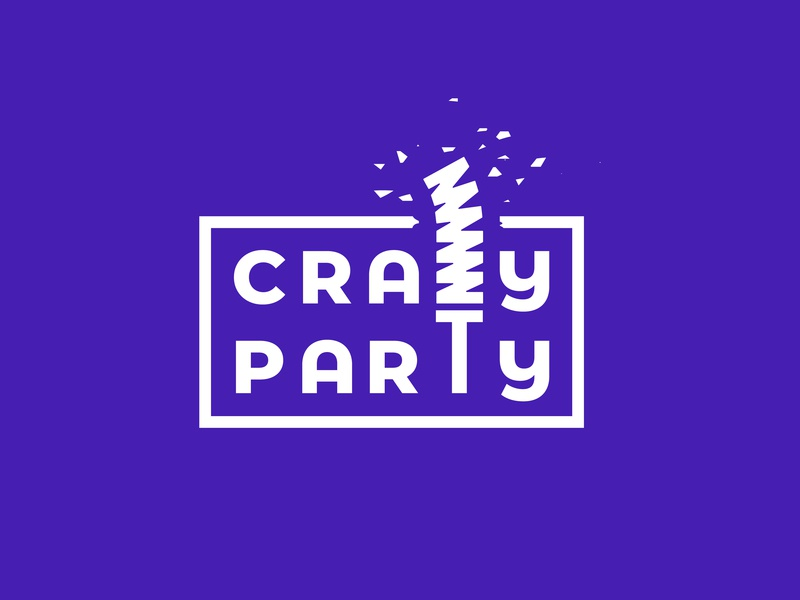 Crazy Party Logo madness crazy party breaking logo