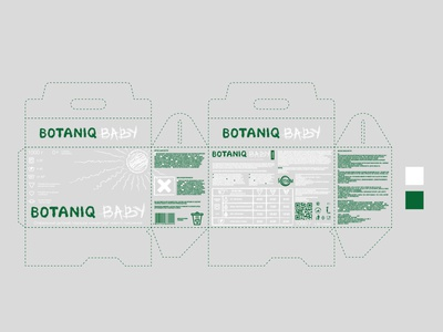 Botaniq Baby Packaging Design green cardboard box craft friendly vegan eco logo label packaging powder