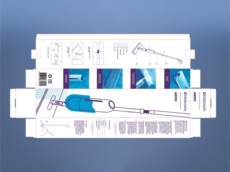 AQUAmatic Aero packaging packagingdesign packaging design mop smart