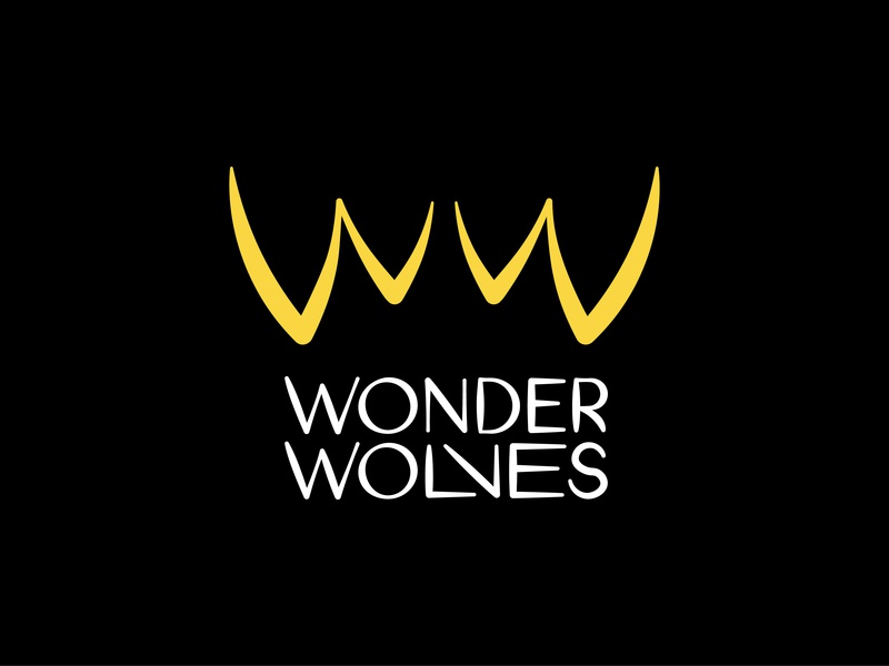 Wonder Wolves Logo lettering logo wolf logo teeth wolf ww wonder rock and roll rock wolves