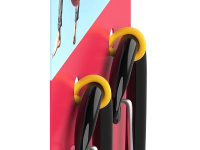 Carabiner packaging (WIP) carabiner carabiners solution packaging rope loops cardboard panel