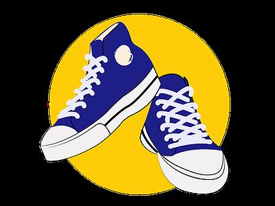 Sneaker Sticker chucks converse illustration graphic stickers sneaker
