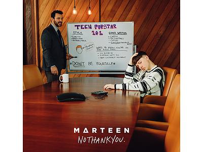 Marteen - No Thank You Album Art handwritting type font pop popstar above ground music music no thank you marteen
