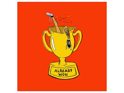 Already Won Kehlani - Album Art tattoos adobe illustrator photoshop illustration trophy vans album art rb pop already won kehlani