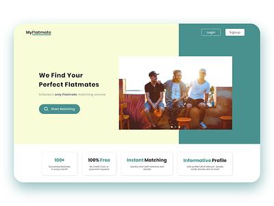 Flatmate Finder Landing Page website webdesign landing dribbble