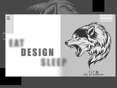 Wild Fox Landing Page 🦊 page landing animal hello dribbble black fox wild