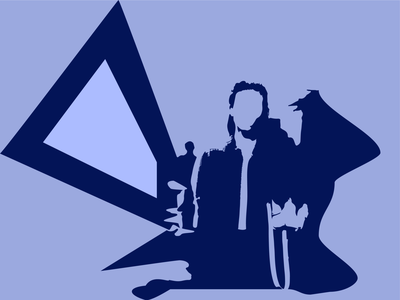 Lady Blue dribbble illustrator