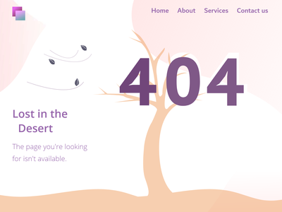 404 error page @rajithad @desert @ui @design @illustration @dribbble @daily-ui @dailyui
