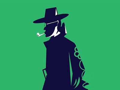 Illustration detective dr strange green illustration dr who dribbble