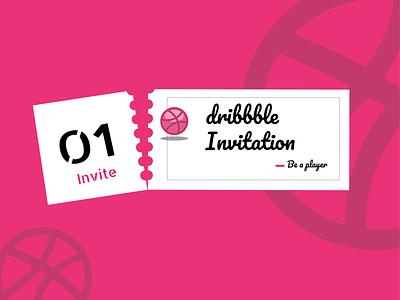 Dribbble Invite black  white black pink vector design illustration be a player player dribbble debut invite