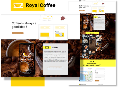 Royal-Coffee shop pagecloud playoff branding dribbble web website concept vector illustration craftedwithpagecloud
