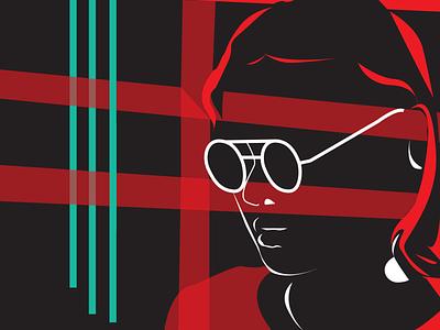 red & black character vector illustration illustrator black red