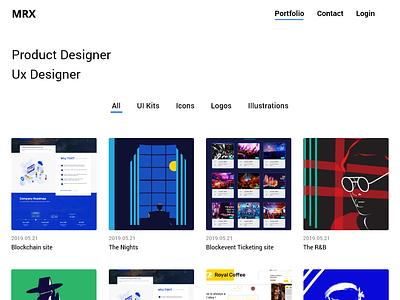 Portfolio Web Template Design uidesign uiux @daily-ui portfolio