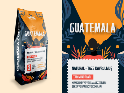 Guatemala - Coffee Packaging Design photoshop illustrator ambalaj kahve brasil ethnic guatemala roastery label coffee shop filter coffee cafe pack packaging monogram stamp logomark pattern badge