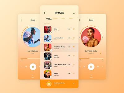 Music Player - Daily UI Challenge webdesign graphicdesign branding figma figmadesign musicapp music uiux ui dailyui009 dailyuichallenge dailyui musicplayer music app design